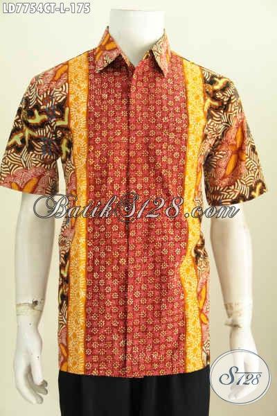 Baju Batik Solo Terkini, Hadir Dengan Desain Keren Bahan Adem Motif Kombinasi Proses Cap Tulis Harga 175K [LD7754CT-L]