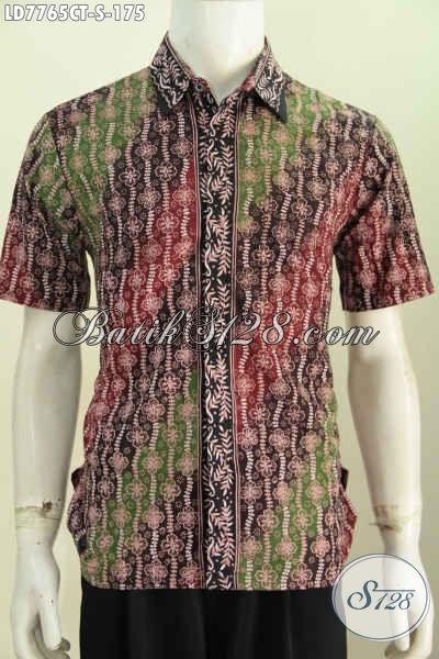 Hem Batik Solo Untuk Anak Muda, Pakaian Batik Santai Dan Formal Berbahan Halus Proses Cap Tulis Desain Modis Tampil Lebih Bergaya [LD7765CT-S]