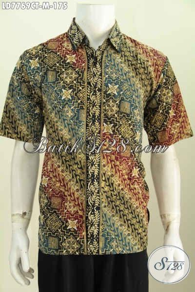 Juragan Baju Batik Online, Sedia Hem Batik Modis Model Terkini Motif Bagus Cap Tulis Hanya 175K [LD7769CT-M]