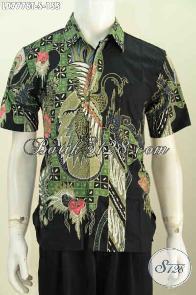 Jual Batik Hem Keren Motif Paling Baru, Baju Batik Santai Proses Tulis Model Lengan Pendek Hanya 155K [LD7776T-S]
