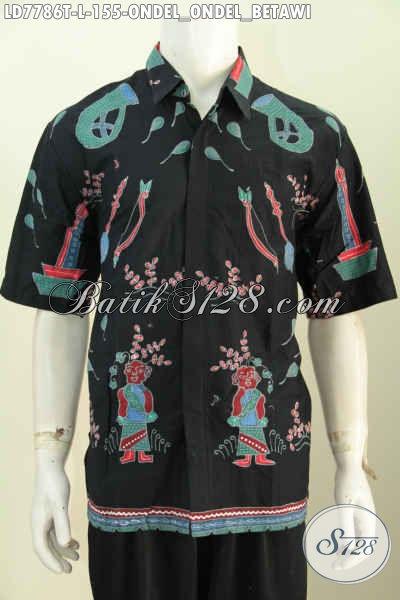 Baju Hem Batik Lengan Pendek Motif Unik Ondel-Ondel Betawi 4f423a21c9