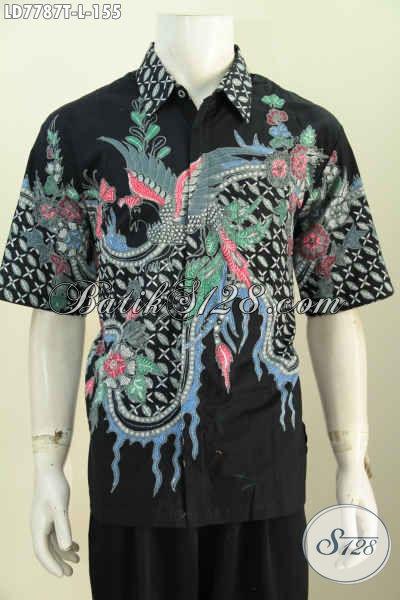Kemeja Batik Trend Masa Kini, Busana Batik Halus Motif Keren Khas Jawa Tengah Proses Tulis Hanya 100 Ribuan [LD7787T-L]