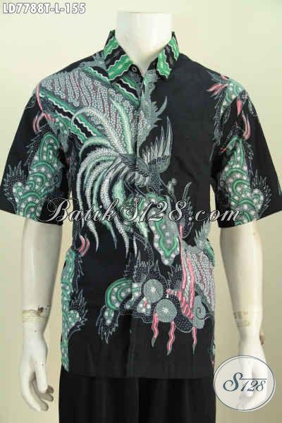 Hem Batik Jawa Terkini, Pakaian Batik Solo Halus Proses Tulis Motif Unik Untuk Pria Tampil Menawan Dan Gagah [LD7788T-L]