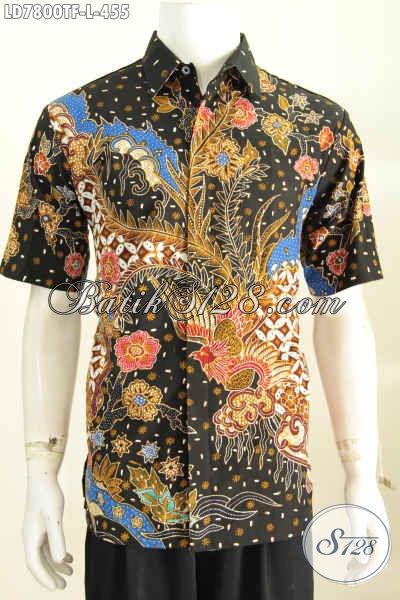Toko Online Pakaian Batik, Sedia Kemeja Batik Premium Lengan Pendek Istimewa Bahan Adem Full Furing Untuk Tampil Gaya Dan Tampan [LD7800TF-L]