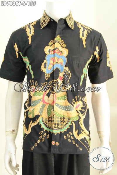 Toko Baju Batik Online, Sedia Kemeja Batik Lengan Pendek Halus Motif Trendy Proses Tulis Harga 155K [LD7808T-S]