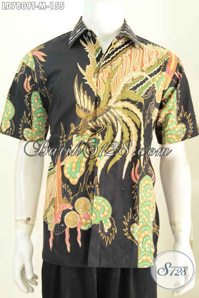 Busana Batik Pria Muda Lengan Pendek Ukuran M, Kemeja Batik Halus Motif Trendy Hanya 150 Ribuan [LD7809T-M]