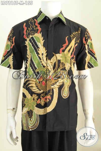 Jual Online Baju Batik Cowok Terkini, Pakaian Batik Santai Motif Bagus Proses Tulis, Modis Juga Untuk Acara Formal [LD7816T-M]