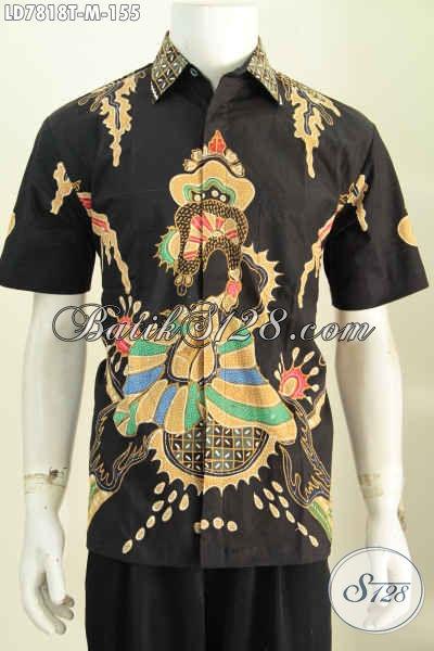 Baju Hem Batik Motif Unik, Kemeja Batik Keren Proses Tulis Cocok Buat Gaul dan Seragam Kantor [LD7818T-M]