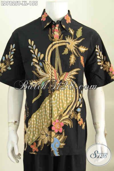 Baju Hem Batik Lengan Pendek Halus Kwalitas Istimewa Harga Murmer Spesial Untuk Lelaki Dewasa [LD7825T-XL]
