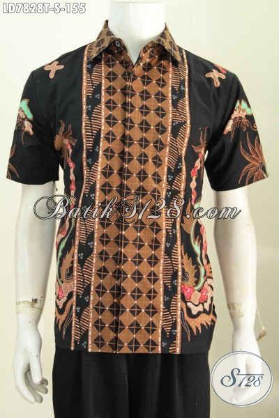 Baju Batik Solo Motif Trendy, Pakaian Batik Halus Proses Tulis Harga Terjangkau, Cocok Untuk Kondangan Dan Seragam Kerja [LD7828T-S]