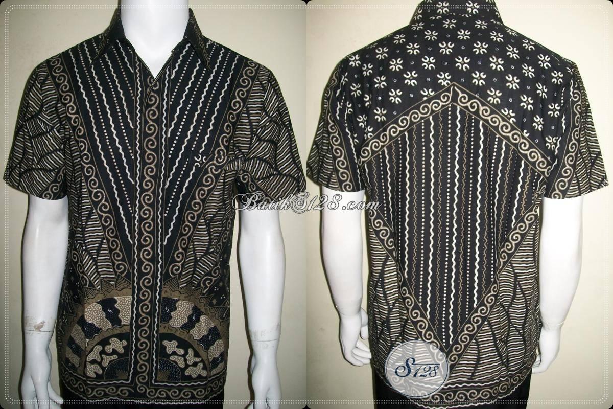 Kemeja Batik Cowok Keren Dijual Online Motif Sinaran, Batik Tulis Modern [LD788T-M]