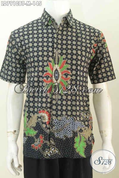 Toko Batik Online Paling Komplit Dan Up To Date, Sedia Busana Batik Istimewa Lengan Pendek Motif Elegan Harga 145K Proses Kombinasi Tulis [LD7910BT-M]