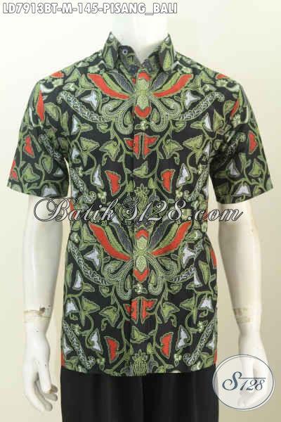 Baju Batik Pria Motif Klasik Pisang Bali Kemeja Batik Halus Lengan