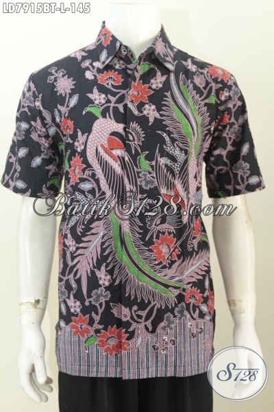 Pusat Up Date Fashion Batik Online, Sedia Kemeja Lengan Pendek Cowok Terkini Baha Halus Harga Terjangkau [LD7915BT-L]