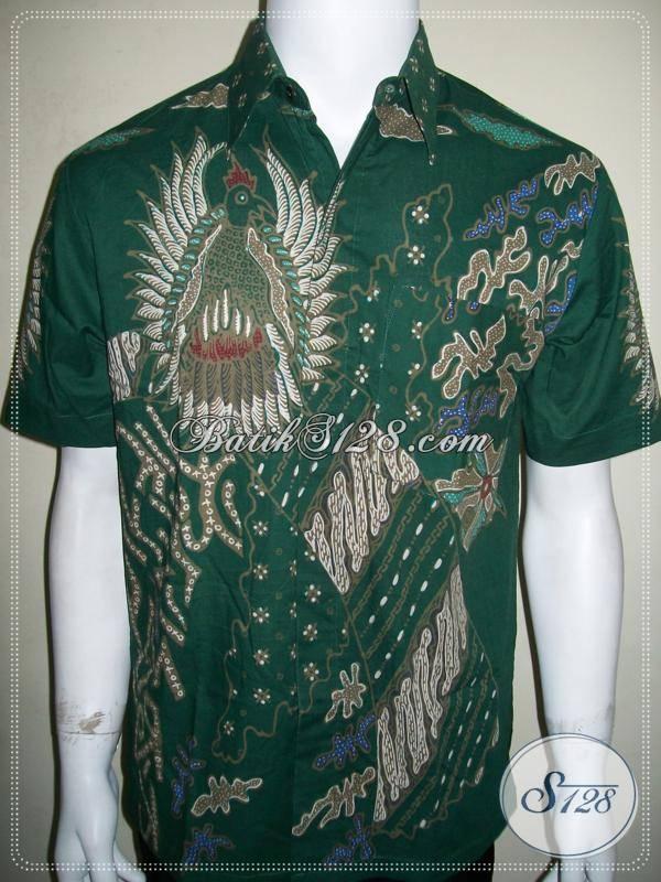 Batik Cowok Modern, Bagus,Nyaman Dipakai, Warna Hijau, Batik Tulis [LD791T-M]