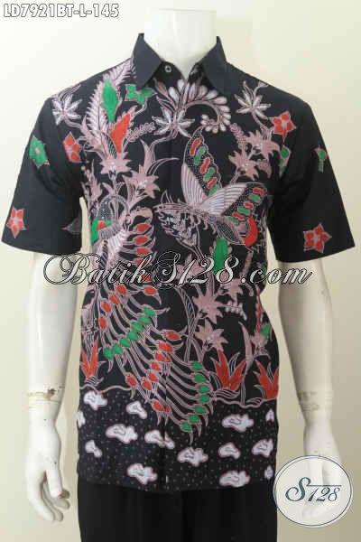 Jual Baju Batik Seragam Kerja, Hadir Dengan Desain Keren Motif Bagus Bahan Halus Proses Kombinasi Tulis Harga 145K [LD7921BT-L]