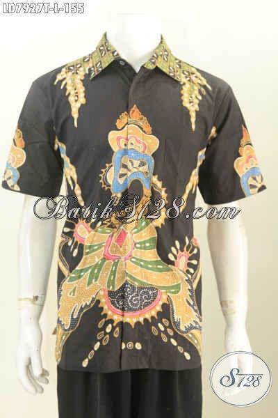 Hem Batik Tulis Murmer 155K, Hadir Dengan Bahan Halus Motif Keren Warna Hitam Nan Elegan, Size L