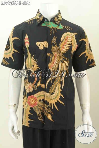 Baju Batik Gaul Lelaki Muda Dan Dewasa, Hem Batik Tulis Solo Motif Keren, Cocok Juga Buat Kerja Model Lengan Pendek, Size L