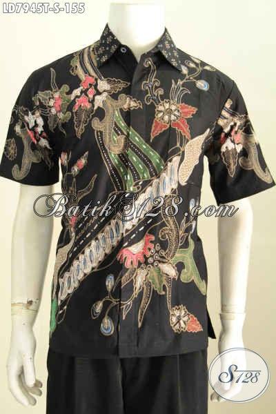 Baju Batik Keren Solo, Kemeja Batik Tulis Halus Non Furing, Pas Buat Hangout, Size S