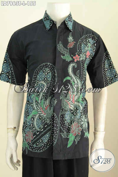 Toko Pakaian Batik Lengan Pendek Pilihan Lengkap, Jual Baju Batik Modis Proses Tulis Kwalitas Istimewa Asli Dari Solo 100 Ribuan [LD7963T-L]