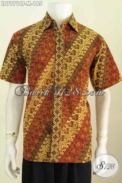 Baju Batik Keren Halus Desain Trendy Motif Klasik Cap Tulis,Di Jual Online 185K, Size M