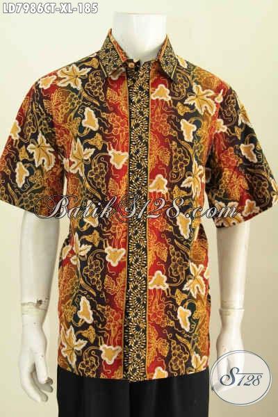Produk Baju Batik Terkini, Hadir Dengan Desain Keren Motif Unik Proses Cap Tulis Bikin Penampilan Lebih Modis [LD7986CT-XL]