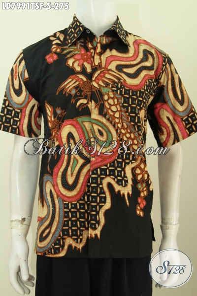 Kemeja Batik keren Elegan Motif Unik Proses Tulis Soga Untuk Pria Muda, Baju Batik Solo Halus Harga 200 Ribuan [LD7991TSF-S]