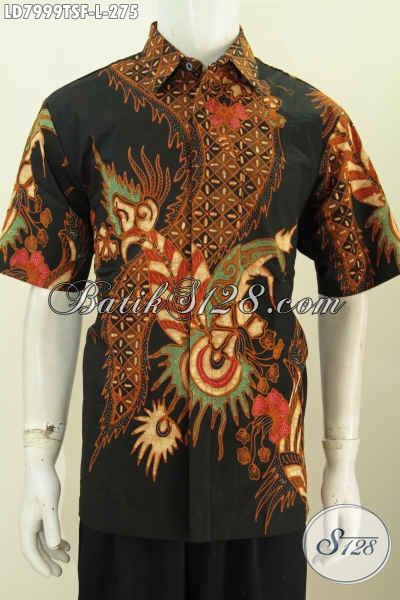 Baju batik tulis pria lengan pendek eksklusif