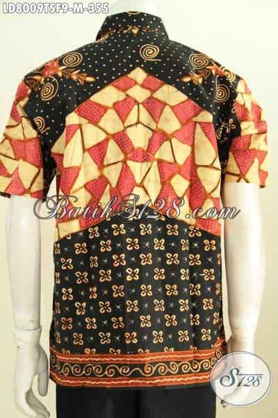 Hem Batik Formal Pria Lengan Pendek Full Furing, Baju Batik Kerja Nan Istimewa Cocok Juga Buat Kondangan [LD8009TSF-M]