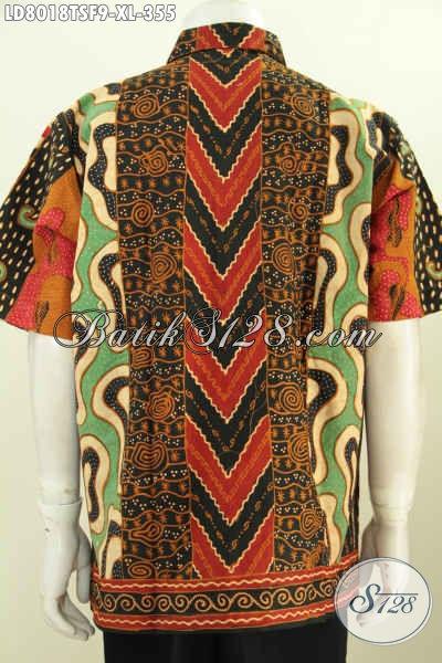 Jual Kemeja Batik Online, Hem Batik Solo Kwalitas Premium Bikin Pria Terlihat Sempurna Harga 355 Ribu [LD8018TSF-XL]