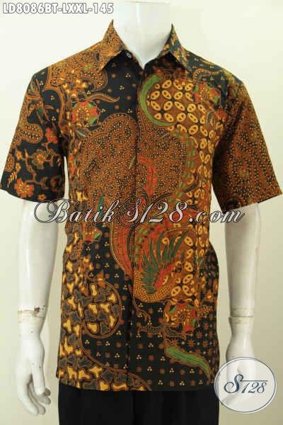 Jual Online Pakaian Batik Istimewa Buatan Solo Indoensia, Hem Batik Pria Kantoran Untuk Tampil Gagah Ganteng Maksimal [LD8086BT-XXL]
