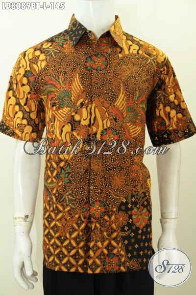 Jual Hem Batik Solo Kwalitas Bagus Harga Terjangkau, Pakaian Batik Istimewa Kombinasi Tulis Untuk Kerja Dan Kondangan [LD8089BT-L]