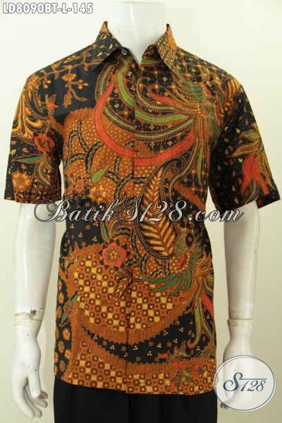 Jual Online Produk Baju Batik Berkelas Dari Solo, Hem Batik Lengan Pendek Istimewa Proses Kombinasi Tulis Harga 145K [LD8090BT-L]