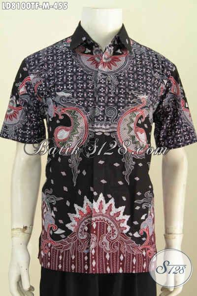 Baju Batik Hem Istimewa, Kemeja Batik Premium Untuk Pria Tampil Gagah Berwibawa Lengan Pendek Full Furing Motif Tulis Asli [LD8100TF-M]