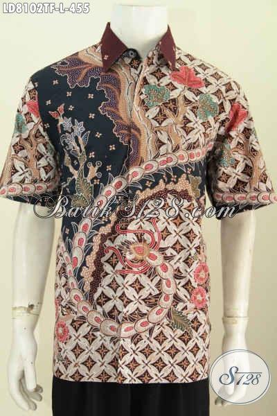 Produk Baju Batik Pria Terkini, Hadir Dengan Motif Berkelas Model Lengan Pendek Full Furing Tampil Lebih Percaya Diri [LD8102TF-L]