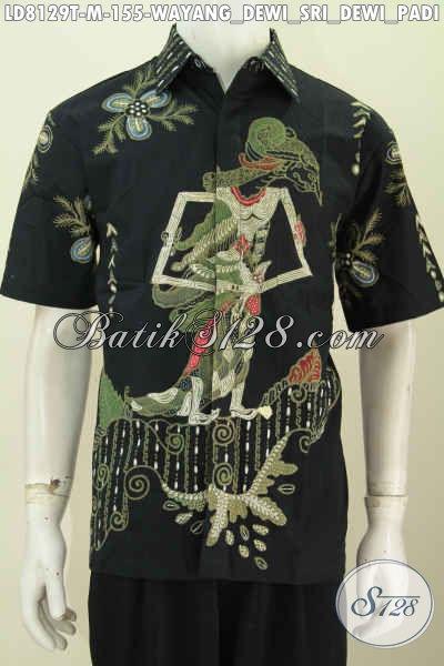 Koleksi Terbaru Hem Batik Cowok Lengan Pendek Motif Wayang Dewi Sri Bahan Halus Model Lengan Pendek Hanya 155K [LD8129T-M]