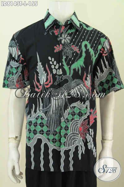 Baju Batik Kwalitas Bagus Harga Terjangkau, Hem Pria Lengan Pendek Ukuran L Proses Tulis Motif Trendy Hanya 155K [LD8143T-L]