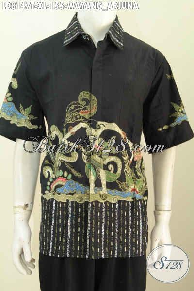 Sedia Hem Batik Wayang Arjuna, Baju Batik ELegan Yang Bikin Pria Terlihat Gagah Dan Tampan Proses Tulis Harga 155K [LD8147T-XL]