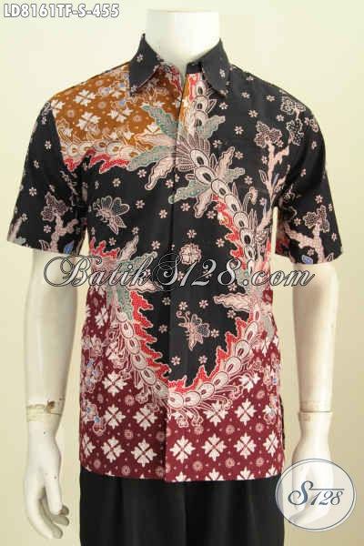 Sedia Pakaian Batik Solo Halus, Busana Batik Jawa Tengah Istimewa Motif Terkini Proses Tulis Model Lengan Pendek Pake Furing 400 Ribuan [LD8161TF-S]
