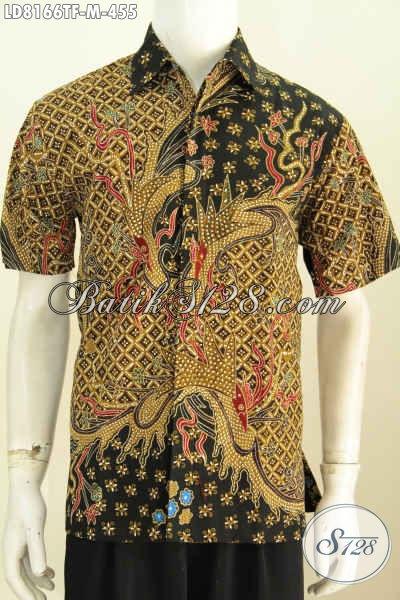 Hem Batik Elegan Nan Mewah, Baju Batik Berkelas Khas Jawa Tengah Yang Bikin Lelaki Terlihat Menawan Dan Tampan [LD8166TF-M]