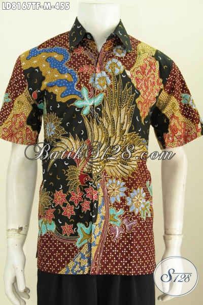 Baju Hem Lengan Pendek Size M Pakaian Batik Pria Muda