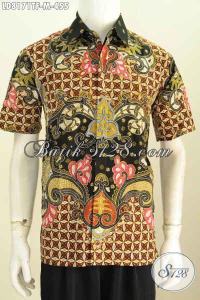 Agen Pakaian Batik Modern, Busana Batik Solo Halus Nan Istimewa, Baju Batik Modern Untuk Tampil Gagah Dan Gaya Kwalitas Premium Proses Tulis [LD8171TF-M]