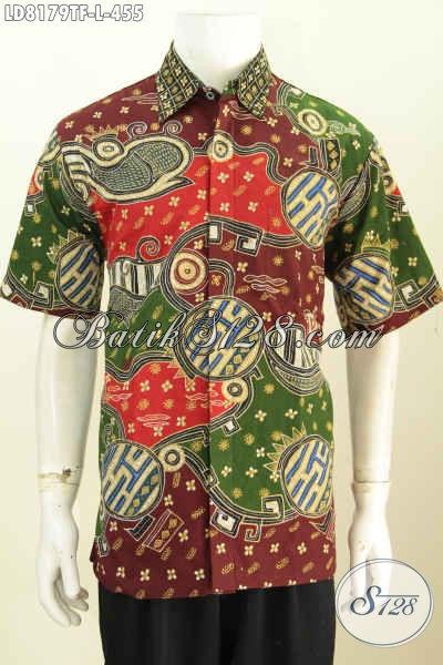 Contoh batik pria motif abstrak modern mengambil tema motif klasik sekar jagad