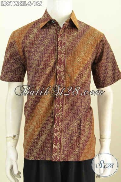 Baju Hem Batik Lengan Pendek, Pakaian Batik Keren Dan Elegan Untuk Penampilan Gaya Serta Berkelas Hanya 180 Ribuan [LD8192CTL-S]