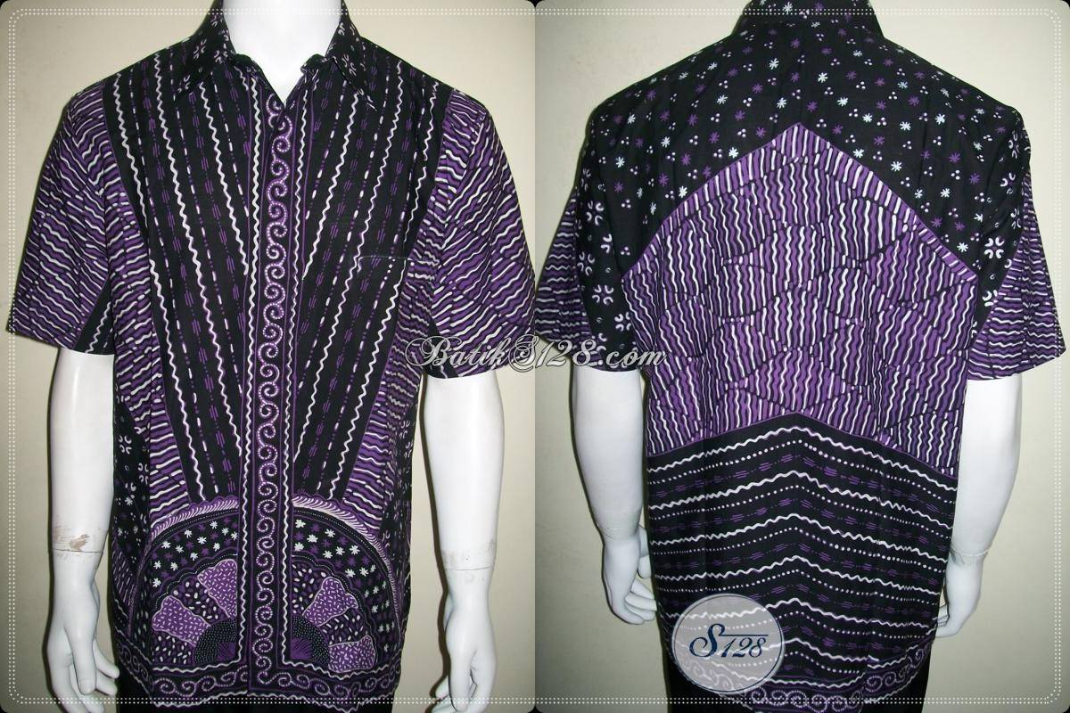 Baju Batik Tulis Lebaran Pria Lengan Pendek Motif Unik Keren