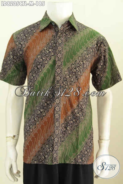 Batik Hem Keren Masa Kini Motif Klasik Tampil Lebih Menawan, Batik Cap Tulis Lasem Buatan Solo Harga Terjangkau [LD8205CTL-M]