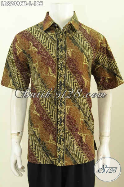 Produk Terkini Pakaian Batik Solo Kwalitas Halus Motif Klasik Bahan Adem Proses Cap Tulis Lasem Untuk Penampilan Lebih Berkelas [LD8209CTL-L]
