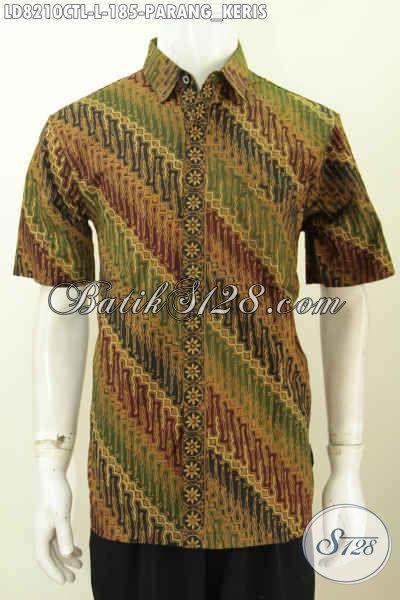 Hem Batik Pria Paling Di Cari, Baju Batik Halus CapTulis Lasem Motif Klasik Desain Modern Untuk Penampilan Lebih Gaya [LD8210CTL-L]