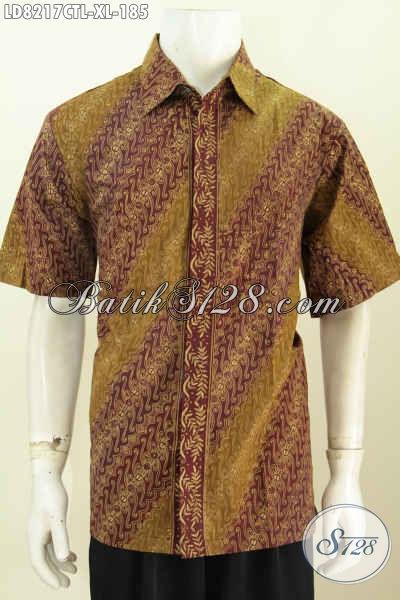 Baju Batik Santai Cocok Untuk Formal, Pakaian Batik Keren Desain Modis Bahan Adem Proses Cap Tulis Lasem Di Jual Online 185K [LD8217CTL-XL]