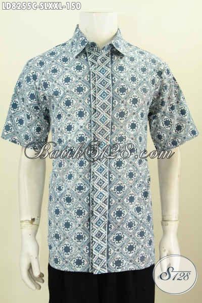 Jual Baju Hem Batik Untuk Seragam Kerja, Hadir Dengan Desain Trendy Keren Bahan Halus Motif Terkini Proses Cap Tampil Gaya [LD8255C-S]